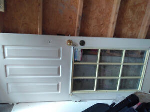 Exterior door . Door only no frame. Use but good condition