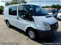 2009 FORD TRANSIT SWB, FACTORY BUILT SIX SEAT CREW VAN, ONE FLEET OWNER TIDY!