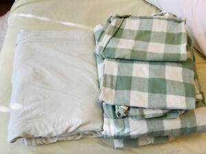 Single Flannel Bedsheets with Duvet Cover
