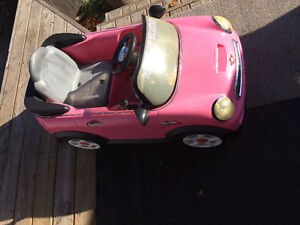 NEW PRICE 65$ Pink mini Cooper Drive toy