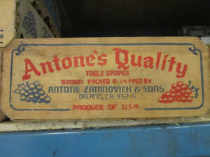 Vintage California Table Grape Boxes. ** ONLY $10. Each ** Kitchener / Waterloo Kitchener Area image 2