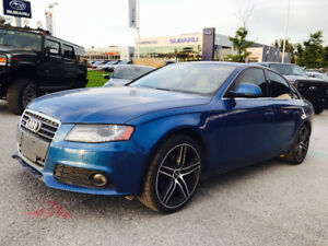 2009 AUDI A4 QUATTRO ELECTRIC BLUE ON TAN LETHER, LOADED!!