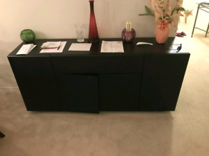 Mint Condition Black Buffet Table