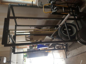 Powerlifting, squat rack, dumbells weights/ plates, home gym