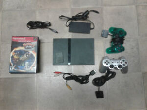 PlayStation 2 (PS2) Slim Console and Games