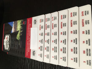 6 Grey Cup tickets under the roof