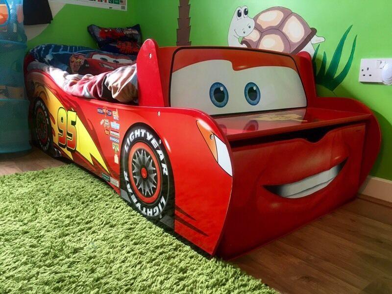 kids children bed disney cars lightning mcqueen feature. Black Bedroom Furniture Sets. Home Design Ideas