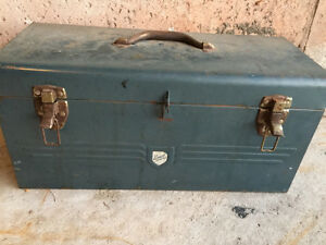 Antique Strong Tool Box - by Beach