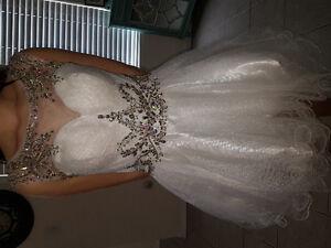 White grad/prom dress