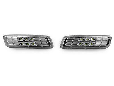 DEPO Chrome/Clear White LED Side Marker Light For 1998-2004 Lexus GS300 / GS400