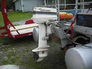 1985 Johnson 30 hp with controls. May trade for 10 hp