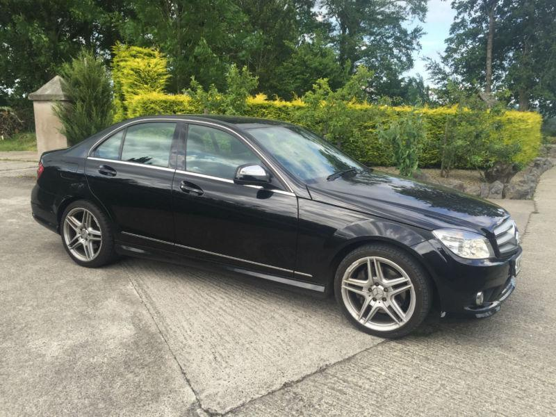 2008 mercedes c320 cdi amg sport auto black leather mot may 16 in belfast city centre. Black Bedroom Furniture Sets. Home Design Ideas
