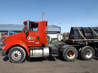 International 80S Tractor Truck With Felling Trailer