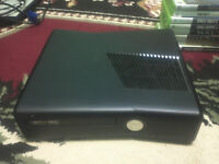 250GB SLIM Xbox 360 with 3 controllers and games