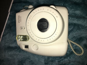 White Instax Mini 8 Camera