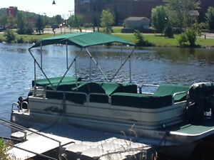 Pontoon boat and trailer $15000