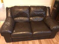 Sofa Workshop leather sofa plus matching chair