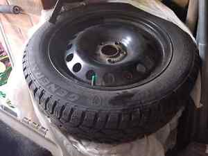 4 winter tires on rims only used one season.