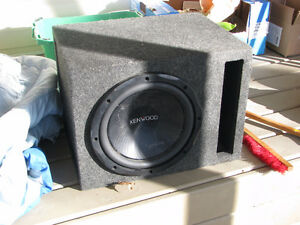 "Kenwood 12"""" subwoofer with case and amp Prince George British Columbia image 4"