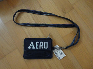 Aeropostale Navy blue wallet ID holder wristlet New with tags