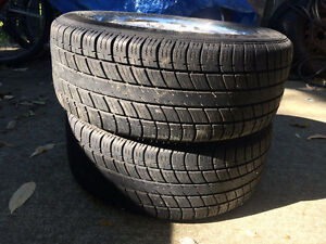 Set of All Season Tires with Alloy Rims Kitchener / Waterloo Kitchener Area image 3