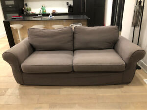 Pottery Barn Grand Sofa and Loveseat-Grey
