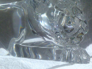 Baccarat Crystal - Stalking Panther - Signed North Shore Greater Vancouver Area image 2