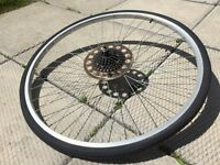 """Rear wheel for bicycle 27"""" x 1 ¼"""" (used)"""