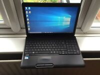 4GB fast Toshiba satellite HD laptop 200GB,window10,Microsoft office,ready,excellent condition