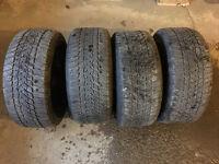 set de mags BMW original avec pneu d'hiver Goodyear 235/40/R18