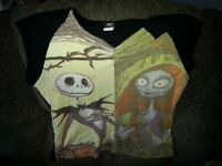 Jack skellington and Sally womens 2xl t shirt