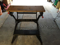 NICE BLACK DECKER WORKMATES BENCH AND VISE TABLE $80 obo