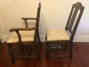 Vintage chairs - white