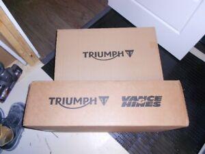Triumph / Vance & Hanes black ceramic exhaust