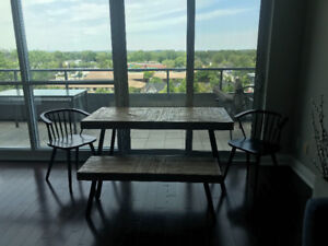 Structube Dinner table with bench and two chairs