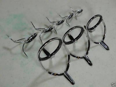 9 GUIDES AMERICAN TACKLE MICROWAVE AIRWAVE CASTING GUIDE SET-HARD CHROME