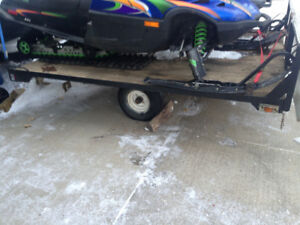 Tilting sled trailer