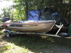 Misty River 14ft Deep and Wide with Yamaha F25 4-Stroke
