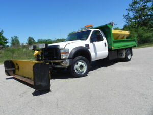 2008 FORD F-550 4X4 DUMP TRUCK WITH PLOW
