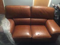 Hopewell's Italian Leather Sofa's