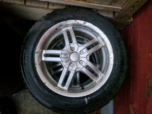 195 55 15 good year winter tires/aluminum 4x100. 4x114 wheels