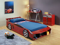 SINGLE BED RED SPORTS CAR
