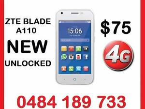 NEW 4G ZTE  BLADE A110 UNLOCKED  4 INCH 5MPX CAMERA $75 Castle Hill The Hills District Preview