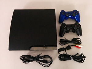 PlayStation 3 Slim 120GB + 2 DUALSHOCK Wireless Controllers