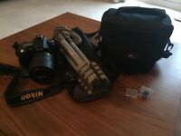 Nikon D90 DSLR body, lense, bag and tripod PERFECT CONDITION ALMOST NEW
