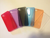 4x NEW transparent ultrathin soft case/skin for iphone 5 & 5s