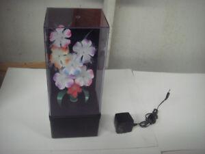 Vintage Fiber Optic Color Changing Flower Box Light Up