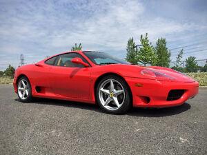 2001 Ferrari 360 Modena F1 Authentic RED/TAN - No mods