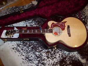 GIBSON ACOUSTIC /ELECTRIC FLAME MAPLE GUITAR