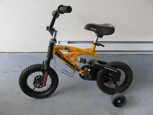 Boy's Hummer bike with training wheels